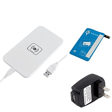 Insten® 1905733 3-Piece USB QI Wireless Charger Bundle For Samsung Galaxy S5