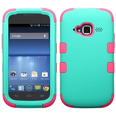 Insten® TUFF Hybrid Protector Cover For ZTE Z730 Concord II, Teal Green/Electric Pink
