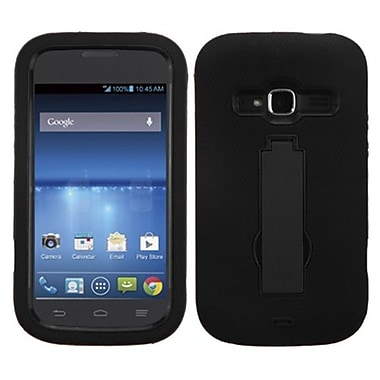 Insten® Symbiosis Stand Protector Cover For ZTE Z730 Concord II, Black/Black