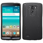 Insten® Protector Cover For LG G3, Black/Black Astronoot