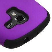 Insten® TUFF Hybrid Phone Protector Case For Samsung T599 Galaxy Exhibit, Grape/Black