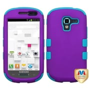Insten® TUFF Hybrid Phone Protector Case For Samsung T599 Galaxy Exhibit, Grape/Tropical Teal