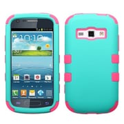 Insten® Rubberized TUFF Hybrid Phone Protector Case For Samsung M840, Teal Green/Electric Pink