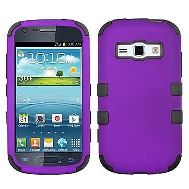 Insten® Rubberized TUFF Hybrid Phone Protector Case For Samsung M840, Grape/Black