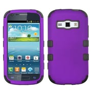 Insten® Rubberized TUFF Hybrid Phone Protector Case For Samsung M840, Grape/Black
