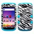 Insten® Hybrid Phone Protector Cover For Samsung T769 Galaxy S Blaze 4G, Zebra Skin/Tropical Teal