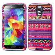 Insten® VERGE Hybrid Protector Case For Samsung Galaxy S5, Tribal Fashion/Electric Purple
