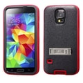 Insten® VERGE Protector Cover W/Stand F/Samsung Galaxy S5, Natural Black/Red