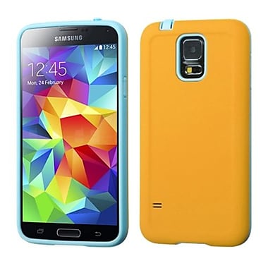 Insten® Advanced Armor Protector Case For Samsung Galaxy S5, Yellow/Tropical Teal