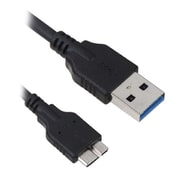 Insten® 3' Micro-USB 3.0 Data Cable For Galaxy S5/Note 3, Black
