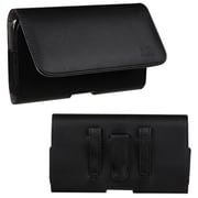 Insten® Large12 Horizontal Pouch, (2907) Black/Gray Textured