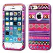 Insten® VERGE Hybrid Protector Cover F/iPhone 5/5S, Tribal Fashion/Electric Purple