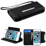 Insten® MyJacket Wallet Case F/iPhone 5/5S, Black