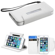 Insten® MyJacket Wallet Case F/iPhone 5/5S, White
