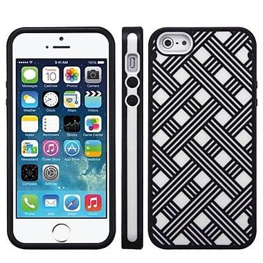 Insten® CO-MOLDED Protector Cover F/iPhone 5/5S, White/Black