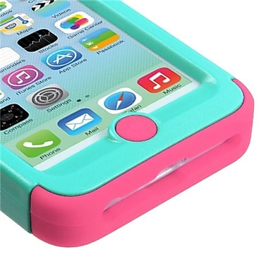 Insten® VERGE Hybrid Protector Cover W/Stand F/iPhone 5C, Natural Teal Green/Pink