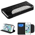 Insten® Crocodile Skin MyJacket Wallet Cases W/Gradient Diamante Belt F/iPhone 5C