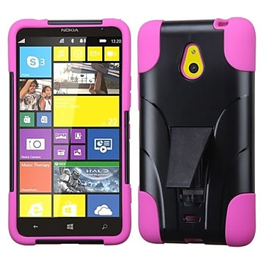 Insten® Inverse Advanced Armor Stand Protector Cover For Nokia Lumia 1320, Hot-Pink Dots