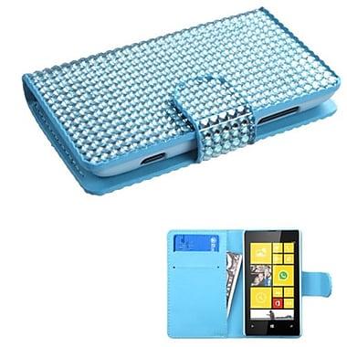 Insten® Diamonds Book-Style MyJacket Wallets With Card Slot For Nokia Lumia 520