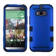 Insten® TUFF Hybrid Phone Protector Cover For HTC-One M8, Titanium Dark Blue/Black