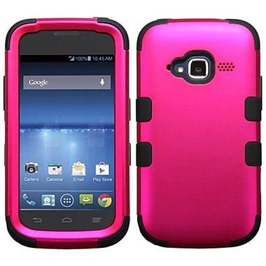 Insten® TUFF Hybrid Protector Cover For ZTE Z730 Concord II, Titanium Solid Hot-Pink/Black