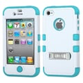Insten® TUFF Hybrid Phone Protector Covers W/Stand F/iPhone 4/4S