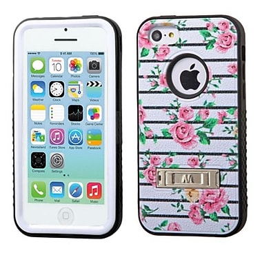 Insten® VERGE Hybrid Protector Cover W/Stand F/iPhone 5C, Pink Fresh Roses/Black
