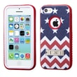 Insten® VERGE Hybrid Protector Cover W/Stand F/iPhone 5C, Stars-Wave/Red