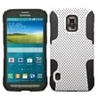 Insten® Astronoot Phone Protector Cover For Samsung G870A (Galaxy S5 Active), White/Black