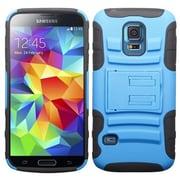 Insten® Advanced Armor Stand Protector Cover For Samsung S5 Mini, Dark Blue/Black