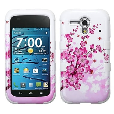 Insten® TUFF Hybrid Phone Protector Cover For Kyocera C5215, Spring Flowers/Solid White