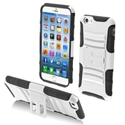 "Insten® Protector Cover W/Advanced Armor Stand F/4.7"" iPhone 6, White/Black"