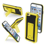 "Insten® Protector Cover W/Advanced Armor Stand F/4.7"" iPhone 6, Yellow/Black Leather Backing/Black"
