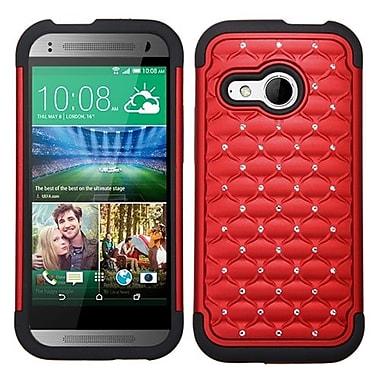 Insten® Protector Cover For HTC-One M8 Mini, Red/Black FullStar