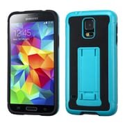 Insten® Advanced Armor Stand Protector Cover W/Leather Backing For Samsung Galaxy S5, Blue/Black