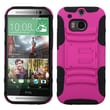 Insten® Advanced Armor Stand Protector Case For HTC-One M8, Hot-Pink/Black