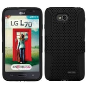 Insten® Protector Cover For LG MS323/VS450PP, Black/Black Astronoot