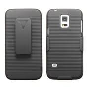 Insten® Rubberized Hybrid Holster For Samsung S5 Mini, Black