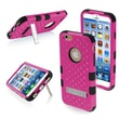 Insten® TUFF Hybrid Phone Protector Cover W/Diamonds F/4.7in. iPhone 6, Natural Hot-Pink/Black