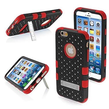 Insten® TUFF Hybrid Phone Protector Cover W/Diamonds F/4.7