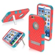 """Insten® TUFF Hybrid Phone Protector Cover W/Diamonds F/4.7"""" iPhone 6, Natural Baby Red/Tropical Teal"""