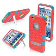 "Insten® TUFF Hybrid Phone Protector Cover W/Diamonds F/4.7"" iPhone 6, Natural Baby Red/Tropical Teal"