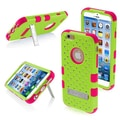 Insten® TUFF Hybrid Phone Protector Cover W/Diamonds F/4.7in. iPhone 6, Pearl Green/Electric Pink