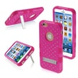 "Insten® TUFF Hybrid Phone Protector Cover W/Diamonds F/4.7"" iPhone 6, Natural Hot-Pink/Hot-Pink"