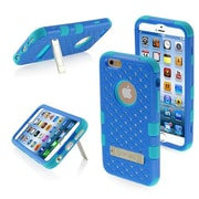 "Insten® TUFF Hybrid Phone Protector Cover W/Diamonds F/4.7"" iPhone 6, Dark Blue/Tropical Teal"