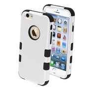 "Insten® TUFF Hybrid Phone Protector Cover F/4.7"" iPhone 6, Ivory White/Black"