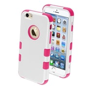 "Insten® TUFF Hybrid Phone Protector Cover F/4.7"" iPhone 6, Ivory White/Hot-Pink"