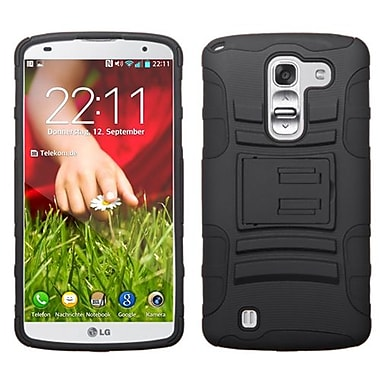 Insten® Advanced Armor Stand Protector Cover For LG D838 G Pro 2, Black/Black