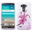 Insten® TUFF Hybrid Phone Protector Cover For LG G3, Solid White Spring Flowers