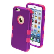 """Insten® TUFF Hybrid Rubberized Phone Protector Cover F/4.7"""" iPhone 6, Grape/Electric Pink"""